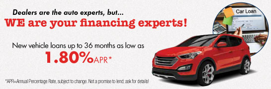 Auto Loan as low as 1.80% APR